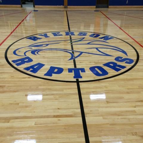 Logo Printed on Floors