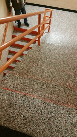 Action Flooring IG can also be used on steps and stairwells.