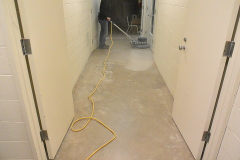 Step 1 - Prep - Herculan IG institutional flooring installers