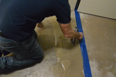 Step 2 - Base Resin - Herculan IG institutional flooring installers