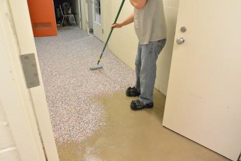 Step 3 - Chips - Herculan IG institutional flooring installers