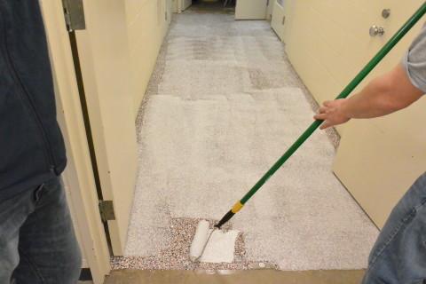 Step 5 - Clear Coat - Herculan IG institutional flooring installation