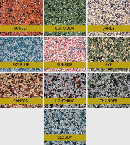 Polylast equestrian flooring colors