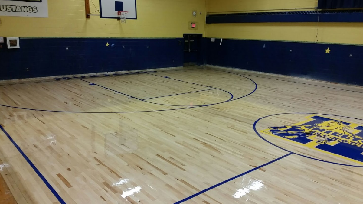 Interloc Wood Sport Floor - Hilltop Elementary School - Lodi, NJ