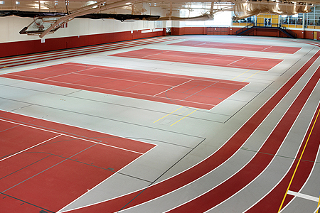 Central College USA Iowa Field House sport flooring